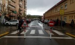avinguda Mas Catarro tallada al trànsit entrades i sortides escola